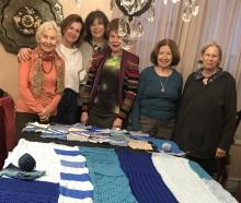 Pictured, left to right: Paulette Cushman, Dominique Langlois, Maxine Gann, Ellen Korn, Barbara Gentile, Charlene Polan. Missing: Terese Fabian, Miriam Parker.