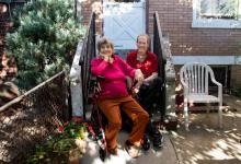"Freda Schaeffer, left, and Tom Logan have shared a three-bedroom house in Brooklyn for a year. ""Freda and I are family now,"" Mr. Logan said. ""We need each other."" Credit Credit Jackie Molloy for The New York Times"